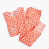 J.Crew Girls' pajama set in heart print