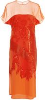 Prabal Gurung Embroidered Short Sleeve Dress
