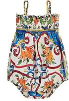 Dolce & Gabbana Infants' Maiolica-Print Cotton Poplin Bodysuit
