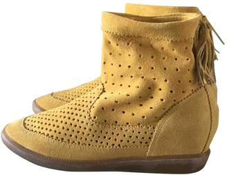 Isabel Marant Basley Yellow Suede Ankle boots