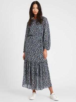 Banana Republic Balloon-Sleeve Maxi Dress