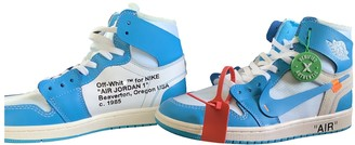 Nike x Off-White Air Jordan 1 Blue Leather Trainers