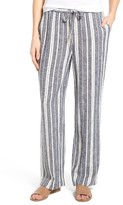 Chaus Women's Stripe Linen Blend Pants