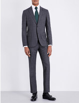 Lardini Checked tailored-fit wool suit