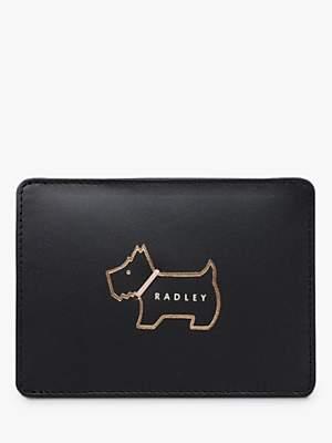 Radley Heritage Dog Outline Small Leather Travel Card Holder