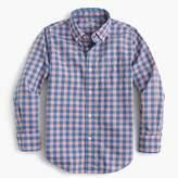 J.Crew Kids' Secret Wash shirt in heathered gingham