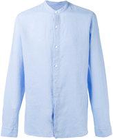 Z Zegna band collar shirt - men - Linen/Flax - XL
