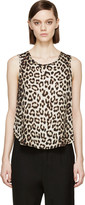 Rag & Bone Beige Leopard Silk Top