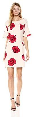 Julian Taylor Women's Bell Sleeve Rose Dress