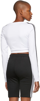 adidas White Adicolor Classics Long Sleeve T-Shirt