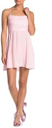 Show Me Your Mumu Arielle Lace-Up Gingham Dress