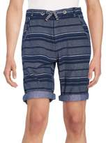Buffalo David Bitton Multistriped Cotton Shorts