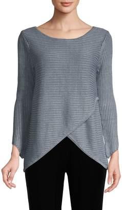Raffi Tulip Hem Linen Sweater