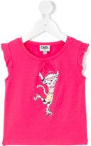 Karl Lagerfeld rollerskating Choupette T-shirt - kids - Cotton/Spandex/Elastane - 24 mth