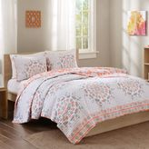 Intelligent Design Pepin Reversible Quilt Set in Coral