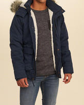 Hollister Sherpa Lined Twill Bomber Jacket