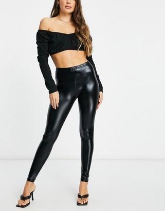Ann Summers Wetlook leggings in black