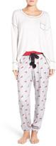 Kensie Long Pajamas & Eye Mask