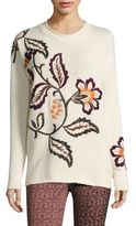 Etro Wool & Cashmere Floral Sweater