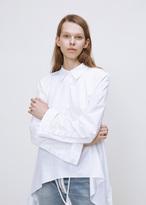 Off-White white bra shirt open back