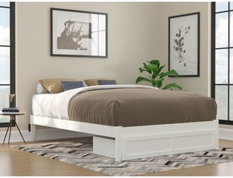Latitude Run Cetronia Platform Bed with Drawers Color: White, Size: Queen