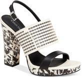 Calvin Klein Women's Breannie Slingback Platform Sandals