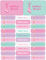 Spark & Spark Ballerina Shoes Waterproof Personalized Label - Set of 128