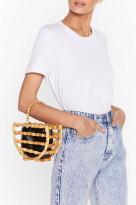 Nasty Gal Womens WANT Wooden Put It Past 'Em Grab Bag - Natural