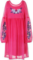 Speechless Long Sleeve Drop Shoulder Sleeve A-Line Dress - Big Kid Girls