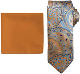 Asstd National Brand Steve Harvey Paisley Tie and Pocket Square Set - Extra Long