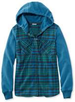 L.L. Bean L.L.Bean Whisper Lodge Cozy Flannel Hoodie Plaid Misses Regular
