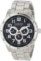 August Steiner Men's AS8060SS Quartz Multi-Function Bracelet Watch