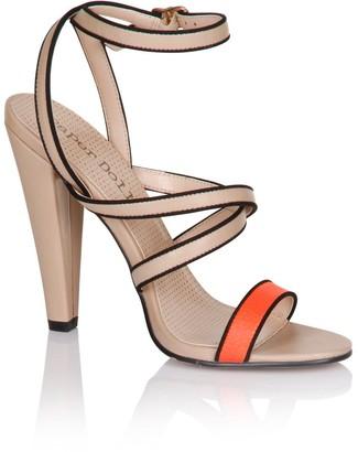 Little Mistress Footwear Coral Multi Strap Heels
