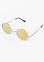 Missy Empire Yara Yellow Tinted Round Sunglasses