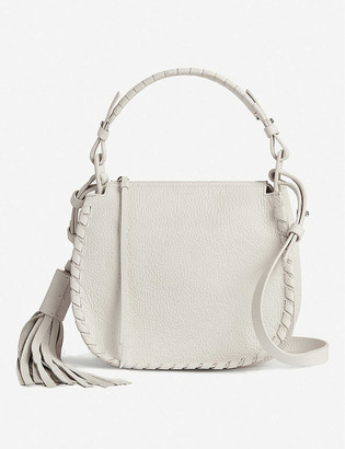 AllSaints Mori Lea leather cross-body bag
