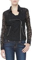 Robert Rodriguez Robbi & Nikki Lace Long-Sleeve Zip Moto Jacket