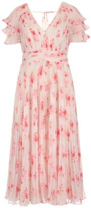 Self-Portrait Floral Pleated Dress