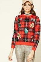 Forever 21 FOREVER 21+ Sequined Patch Holiday Sweater