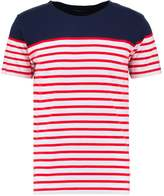 Knowledge Cotton Apparel STRIPED Print Tshirt high risk red