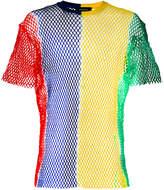 DSQUARED2 colour block mesh T-shirt