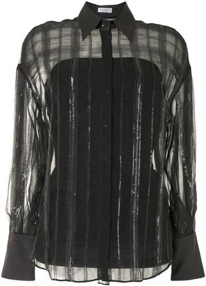 Brunello Cucinelli Sequin-Embellished Silk Shirt