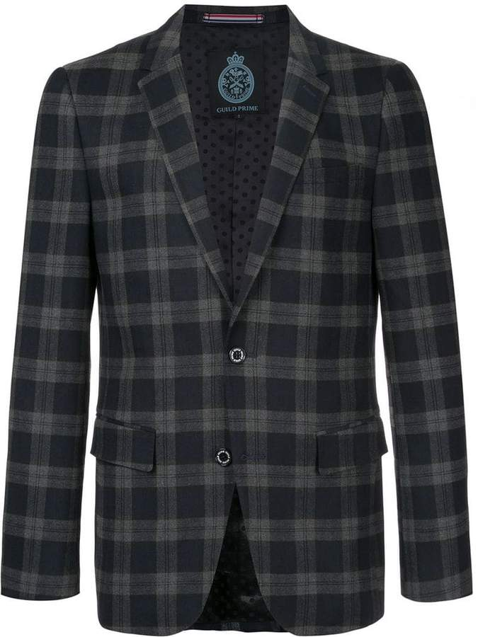 GUILD PRIME checkered blazer