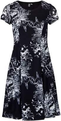 Dorothy Perkins Womens *Izabel London Navy Abstract Print Tea Dress, Navy