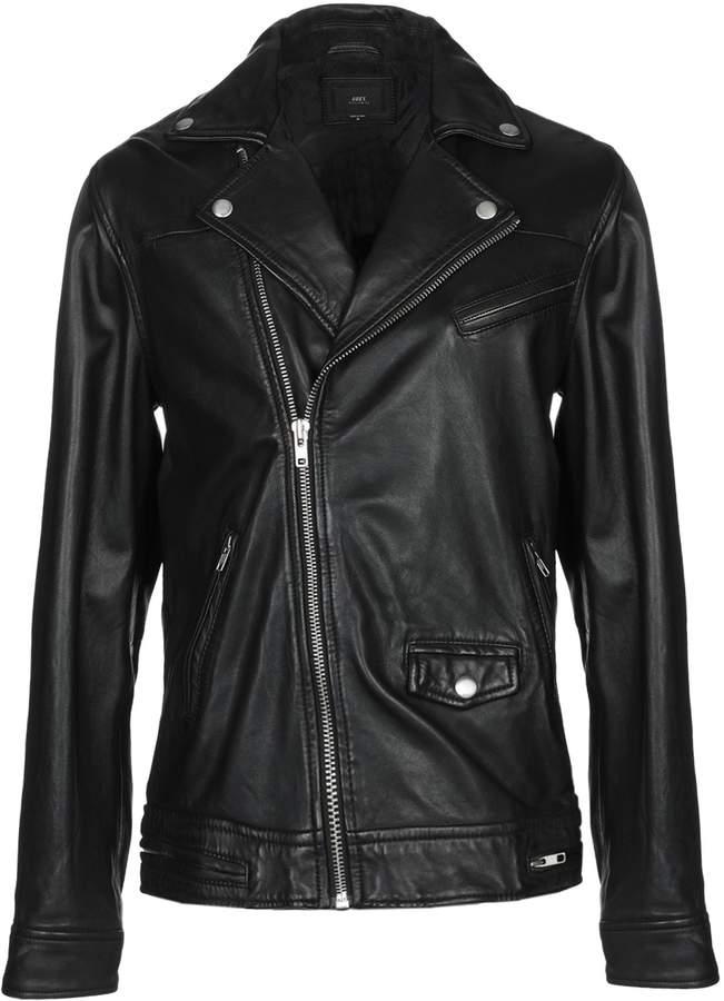 457cbaf8 Obey Black Men's Jackets - ShopStyle