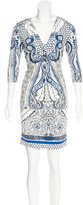 Roberto Cavalli Mixed Print Knee-Length Dress
