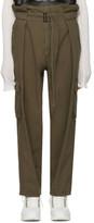 Juun.J Khaki Belted Trousers