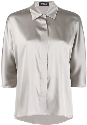 Styland Concealed Button Shirt