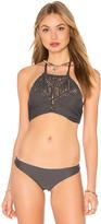 Mikoh Waimea Woven Halter Bikini Top