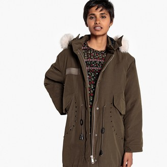 La Redoute Collections Faux Fur Collar Hooded Parka