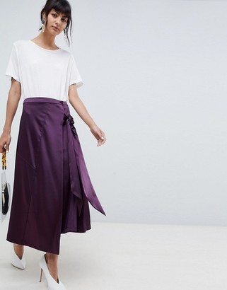 ASOS midi skirt with tie detailing